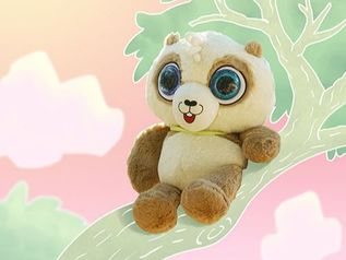 Kawaii Giant Panda Bear Stuffed Animal on Tree